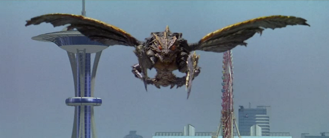 File:Godzilla vs. Megaguirus - Megaguirus looks at Godzilla.png