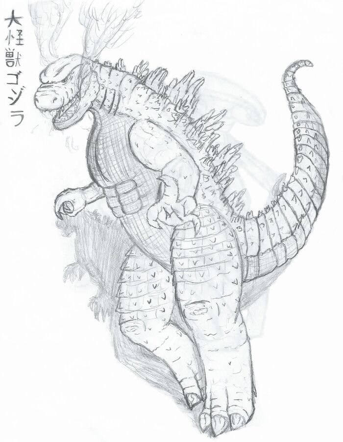 Titanollante's LegendaryGoji Godzilla 2014 Fan Art