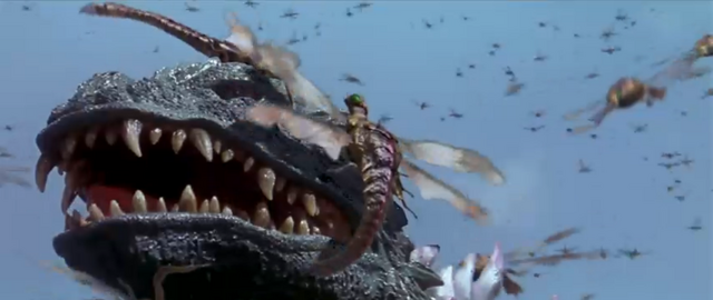 File:Godzilla vs. Megaguirus - Godzilla has his face swarmed.png