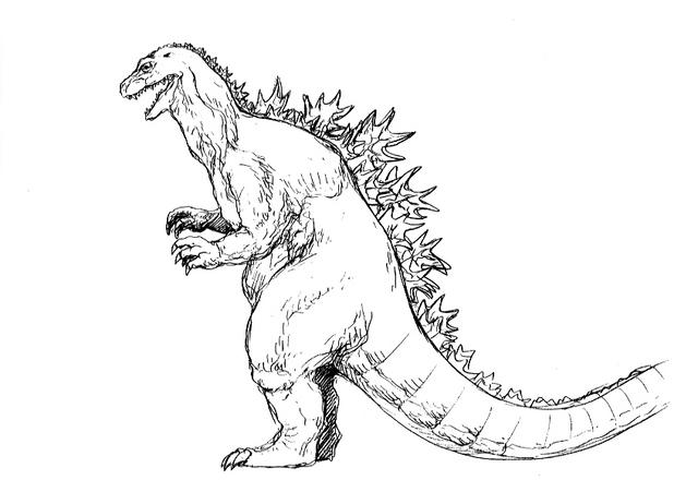 File:Concept Art - Godzilla 2000 Millennium - Godzilla 15.png