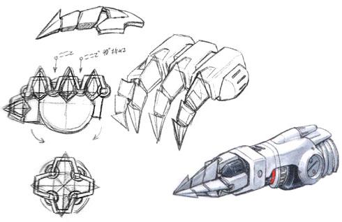 File:Concept Art - Godzilla Tokyo SOS - Kiryu Drill 2.png