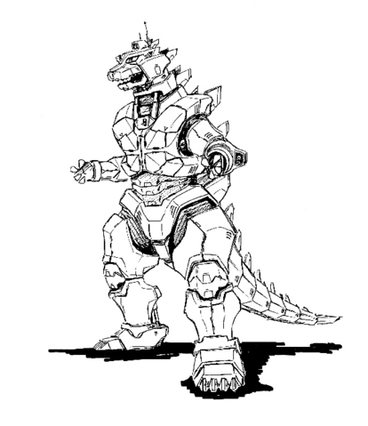 File:Concept Art - Godzilla Against MechaGodzilla - Kiryu 23.png