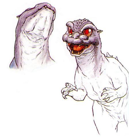 File:Concept Art - Godzilla vs. MechaGodzilla 2 - Baby Godzilla 8.png