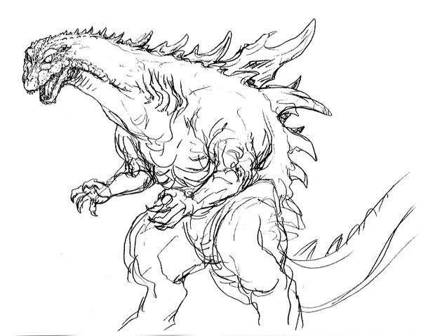 File:Concept Art - Godzilla 2000 Millennium - Godzilla 25.png