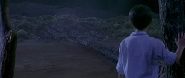 File:Godzilla vs. Megaguirus - The kid looks at the wormhole at night.png