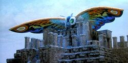 Rainbow Mothra and the Temple