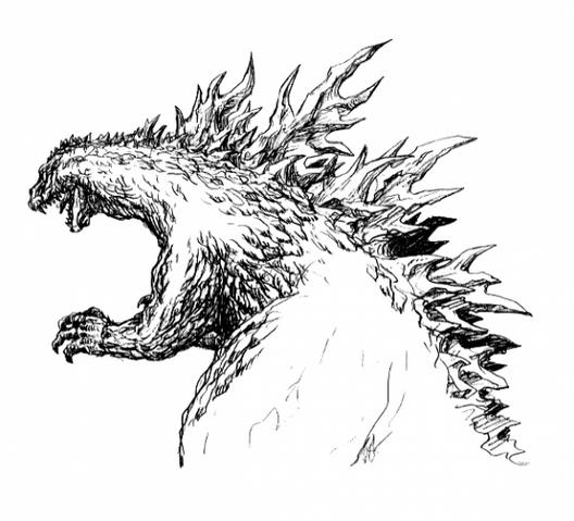 File:Concept Art - Godzilla 2000 Millennium - Godzilla 10.png