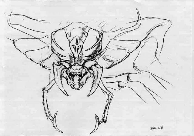 File:Concept Art - Godzilla vs. Megaguirus - Megaguirus 5.png