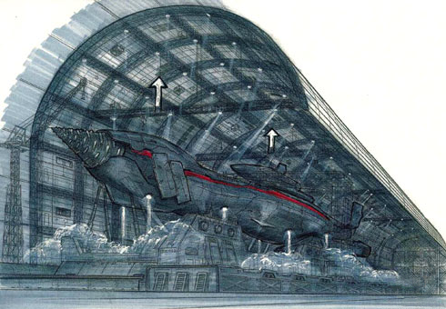 File:Concept Art - Godzilla Final Wars - Gotengo Docking Bay 4.png