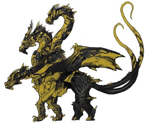 File:Concept Art - Godzilla Final Wars - Keizer Ghidorah 3.png