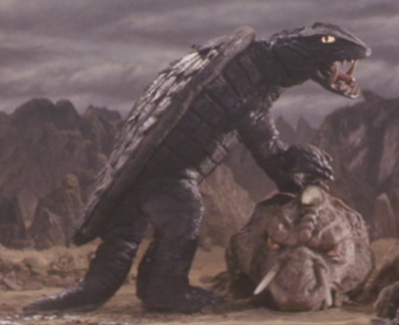 File:Gamera - 5 - vs Jiger - 19 - Gamera has fun beating up Jiger.png