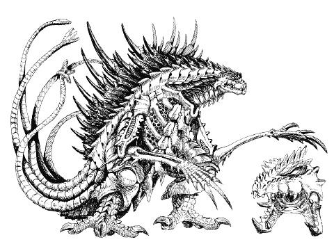 File:Concept Art - Godzilla 2000 Millennium - Orga 16.png