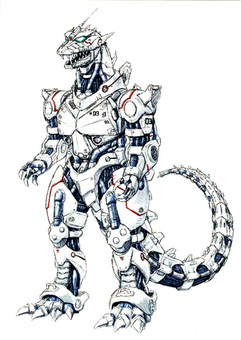 File:Concept Art - Godzilla Against MechaGodzilla - Kiryu 57.png