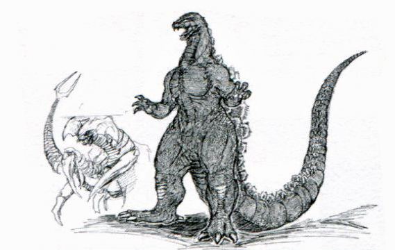 File:Concept Art - Godzilla vs. Destoroyah - Godzilla Junior 4.png