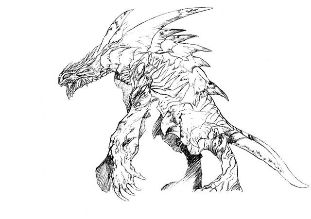 File:Concept Art - Godzilla 2000 Millennium - Orga 71.png
