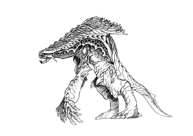 File:Concept Art - Godzilla 2000 Millennium - Orga 100.png