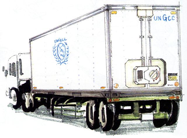 File:Concept Art - Godzilla vs. MechaGodzilla 2 - UNGCC Truck.png