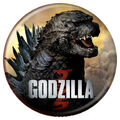 Godzilla 2014 Buttons - Head and Shoulders
