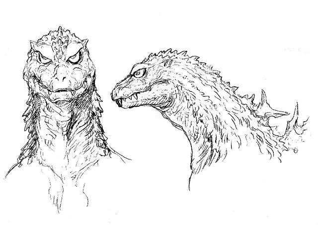 File:Concept Art - Godzilla Tokyo SOS - Godzilla Head 1.png