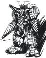 Concept Art - Godzilla vs. SpaceGodzilla - MOGUERA 1