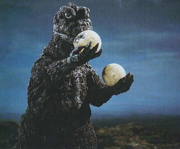 File:GVH - Godzilla Holding Hedorah's Eggs.jpg