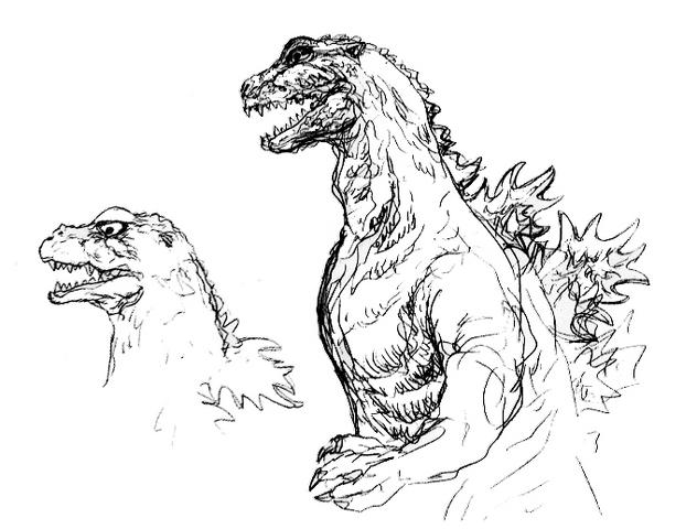 File:Concept Art - Godzilla 2000 Millennium - Godzilla 21.png