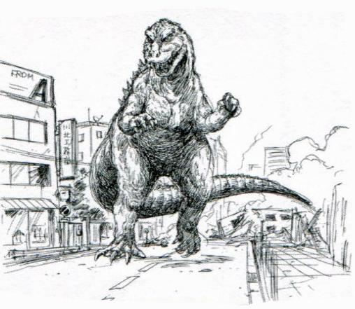 File:Concept Art - Godzilla vs. Destoroyah - Godzilla Junior 7.png
