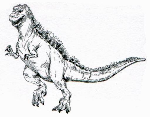 File:Concept Art - Godzilla vs. Destoroyah - Godzilla Junior 8.png