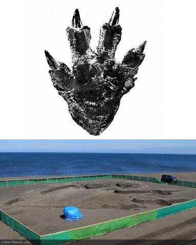 File:Godzilla resurgence foot print.jpeg