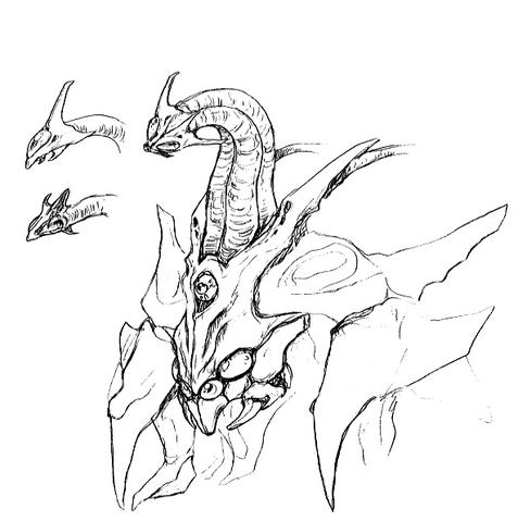 File:Concept Art - Godzilla 2000 Millennium - Orga 46.png