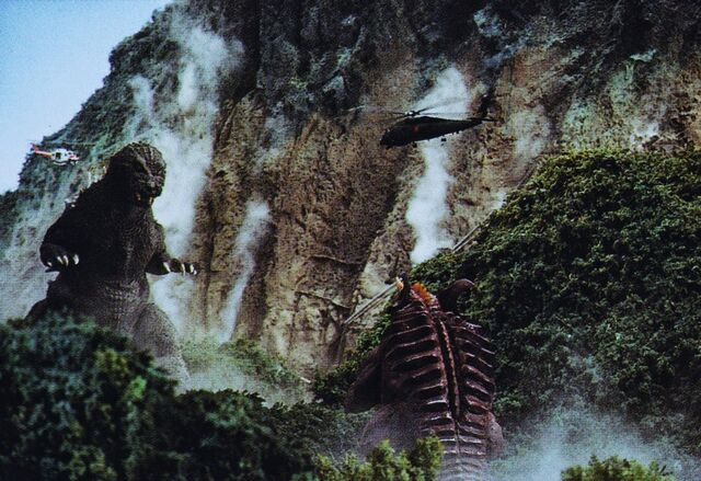 File:GMK - Godzilla and Baragon Preparing to Fight Each Other.jpg