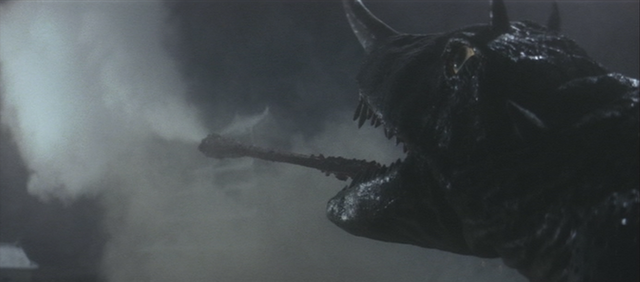 File:Gamera - 2 - vs Barugon - 9 - Barugon DESTROYS the military with tongue breath.png