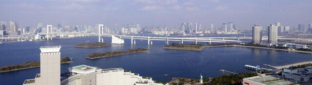 File:Rainbow Bridge,Tokyo Bay from Odaiba.jpg