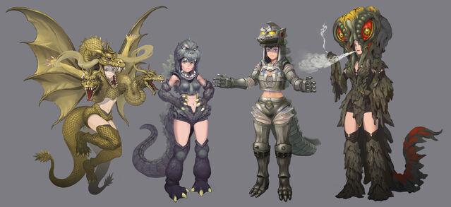 File:Random Japanese Kaiju Girls Fan Art.jpg