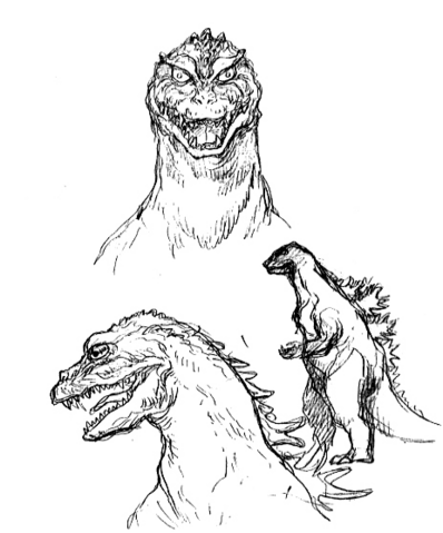 File:Concept Art - Godzilla 2000 Millennium - Godzilla 18.png