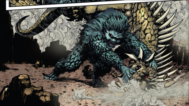 File:RULERS OF EARTH Issue 5 - 5 - Gaira vs. Varan.png