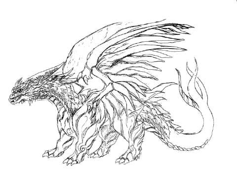 File:Concept Art - Rebirth of Mothra - Desghidorah 11.png