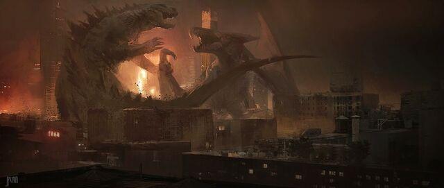 File:Concept Art - Godzilla 2014 - Godzilla vs. MUTO 5.jpg
