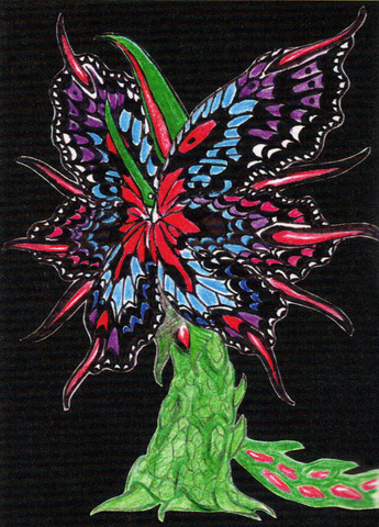File:Concept Art - Godzilla vs. Biollante - Biollante Rose 5.png