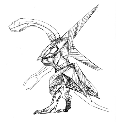 File:Concept Art - Godzilla 2000 Millennium - Orga 43.png