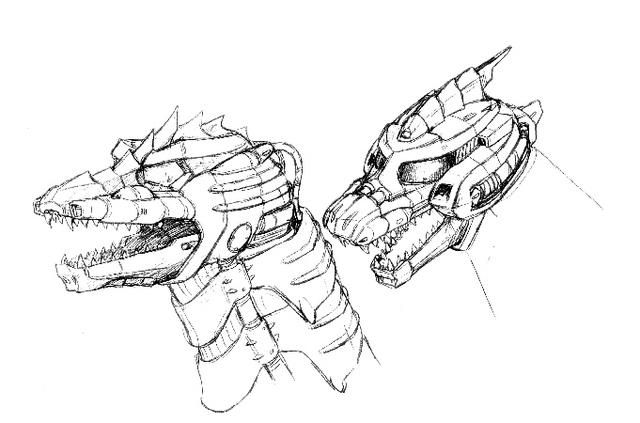 File:Concept Art - Godzilla Against MechaGodzilla - Kiryu Head 1.png