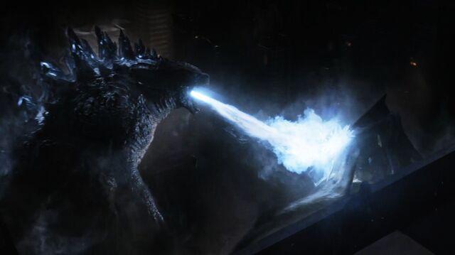 File:G14 - Godzilla Used Radioactive Heat Ray On 8-Legged M.U.T.O..jpg