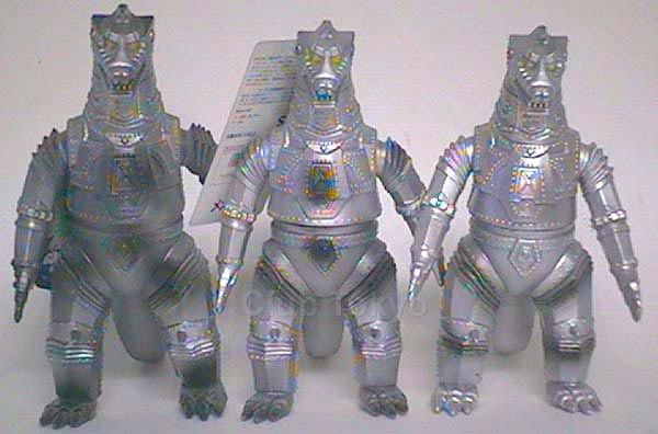File:All 3 of Bandai Japan MechaGodzilla 1974 figures.jpg