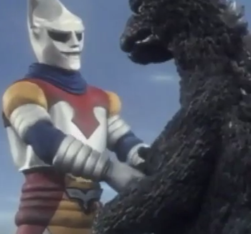 Jet Jaguar Meets Godzilla