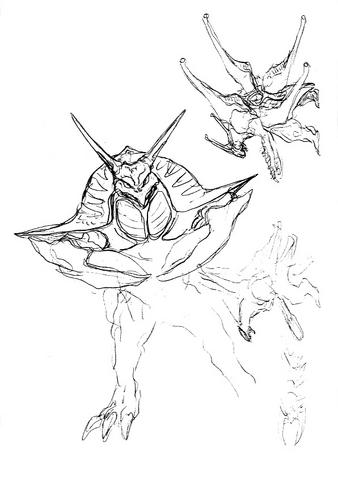 File:Concept Art - Godzilla 2000 Millennium - Orga 53.png