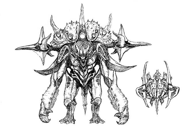 File:Concept Art - Godzilla 2000 Millennium - Orga 76.png