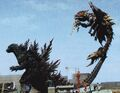 GXM - Godzilla Grabs Megaguirus With His Tail