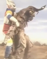 Godzilla vs. Megalon 5 - Jet Jaguar Grabs Megalon