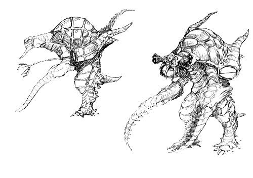 File:Concept Art - Godzilla 2000 Millennium - Orga 10.png