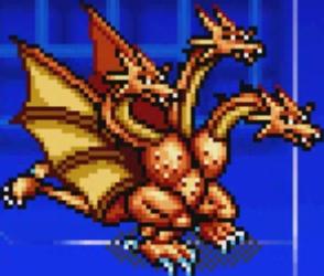 File:Gojira Kaiju Dairantou Advance - Character Sprites - King Ghidorah.png